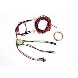 Kit de luces delanteras y traseras con bateria 3V