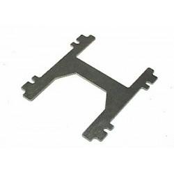 Soporte central H 1mm. aluminio