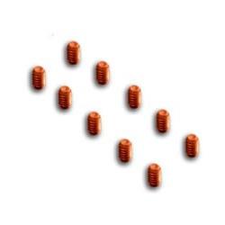 10x tornillos cobre M2x3