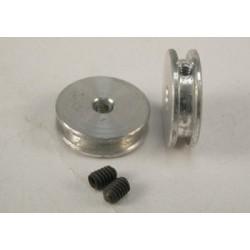 Polea aluminio rectificada por control numérico