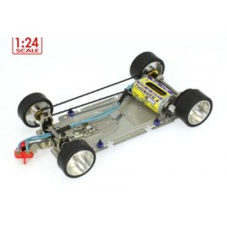 Chasis SWRC en Acero Inoxidable 1/24 Completo RTR