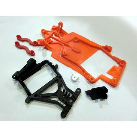 Kit chasis DBR AW orange p/guia pivotante