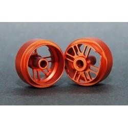 2 x llantas traseras 15.9 x 10 aluminio naranja