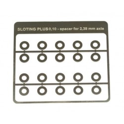 20 Separadores standard 0.10mm para eje 2.38mm
