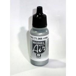 Pintura acrilica para aerografo color acero