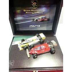 Caja especial Ferrarri 312 T4 Gilles Villeneuve y Renault RS10 Rene Arnoux