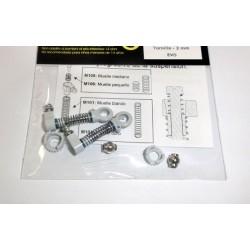 2 x Amortiguador EVO-A_R + cojinete rotula