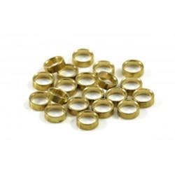 Separadores 1mm eje 3/32 bronce