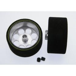 Rueda espuma 25.5 x 13mm - eje 3mm - llanta 21mm - Procomp2