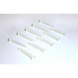 10 x Tornillos de nylon conicos phillips M2x15