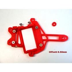 Soporte motor FLAT PRO 24H V12 LMR /911 GT1 offsett 0.50mm