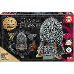 Trono de hierro Game of Thones puzzle 3D madera