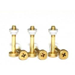 Kit tornillo suspension laton M2 x 13 + tuerca aluminio