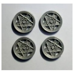Tapacubos Type F-GTO 15.9mm Silver