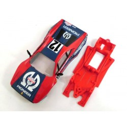 Chasis Block lineal simple F-GTO compatible Scalextric