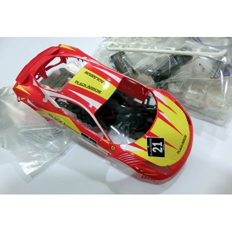 Kit AW GT3 Italia completo carroceria pintada Red - Yellow BACMKITW