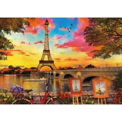 Puesta de sol en Paris puzzle 3000 piezas Educa