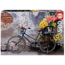 Bicicleta con flores puzzle 500 piezas Educa