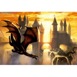 Sunset Dragon puzzle 1000 Educa