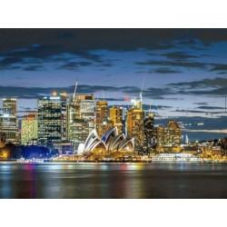 Crepusculo en la ciudad de Sidney puzzle 1000 piezas