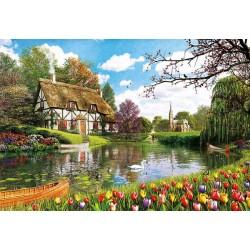 Primavera en el lago puzzle 6000 piezas Educa
