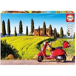 Moto en la Toscana puzzle 1500 piezas Educa