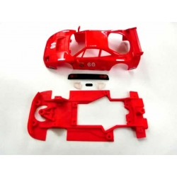 Chasis Hybrid F40 con accesorios compatible Scalextric