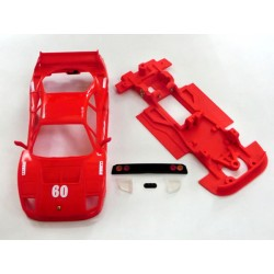 Chasis Lineal F40 con accesorios compatible Scalextric