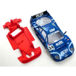 Chasis Anglewinder F40 con accesorios compatible Scalextric
