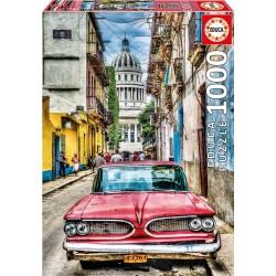 Coche en la Habana puzzle 1000 piezas Educa