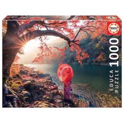 Amanecer Rio Katsura puzzle 1000 piezas Educa