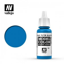 Pintura acrilica Azul Fluo Model Color 736