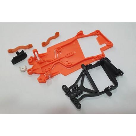 Kit chasis DBR AW orange + cuna + guia + soportes