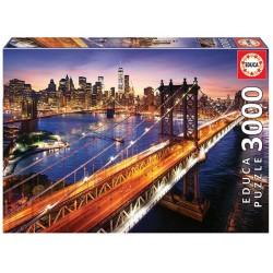 Manhattan al atardecer puzzle 3000 piezas Educa