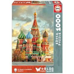 Catedral San Basilio, Moscu puzzle 1000 piezas Educa