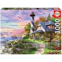 Faro en Rock Bay puzzle 1000 piezas Educa