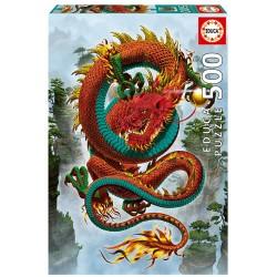 El Dragon de la buena fortuna 500 piezas 34 x 48cm