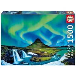 Aurora Boreal Islandia puzzle 1500 piezas Educa