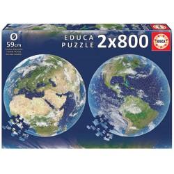 Planeta tierra puzzle 2 x 800 piezas Educa